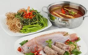 Lẩu cá điêu hồng nguyên liệu